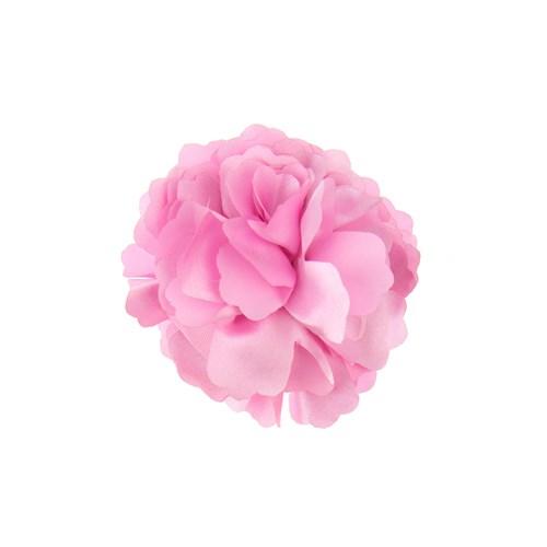 Chiccy Pembe Kumaş Özel Tasarım Çiçek Toka