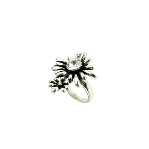 Chiccy Gümüş Rengi, İkili Çiçek Yüzük