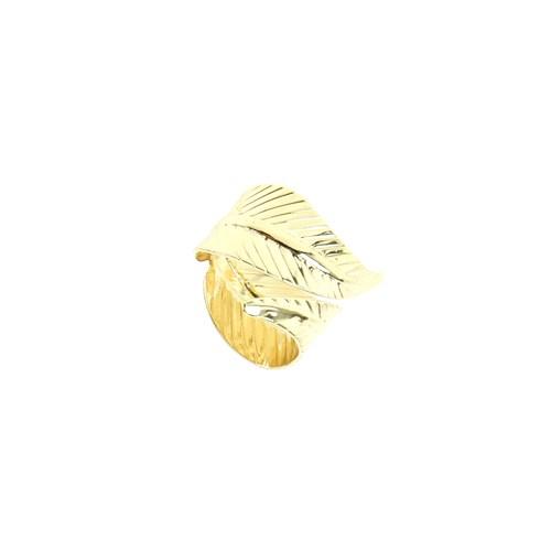 Chiccy Gold Kıvrım Yaprak Yüzük