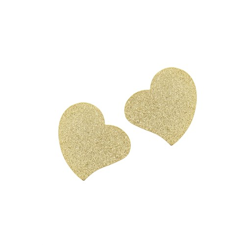 Chiccy Mat Altın Kalp Çelik Küpe