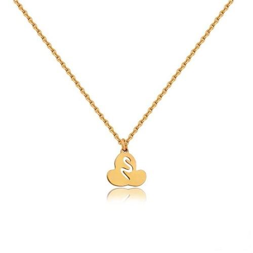 Pırlanta Hediyeler Altın Logo Kolye (Pembe Altın)