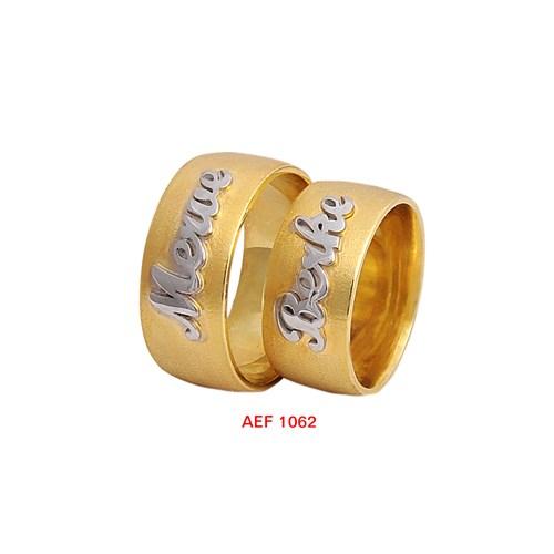 Arjuna Gümüş Tek Taş El İşi Çift Alyans Al1062