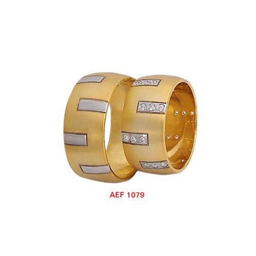 Arjuna Gümüş Tek Taş El İşi Çift Alyans Al1079