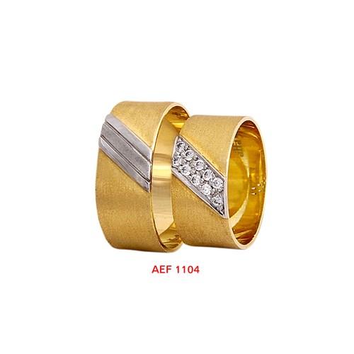 Arjuna Gümüş Tek Taş El İşi Çift Alyans Al1104