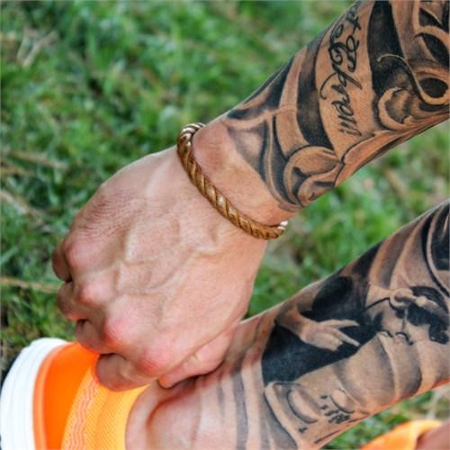 Takı&Trend Özel Tasarım Çelik Klips Halat İp Erkek Bileklik