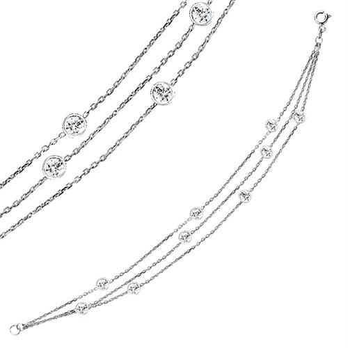 Bella Gloria Altın Kaplamalı Gümüş Şelale Bileklik (GB00142)