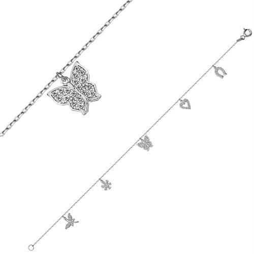Bella Gloria Altın Kaplamalı Gümüş Şans Bileklik (GB00137)