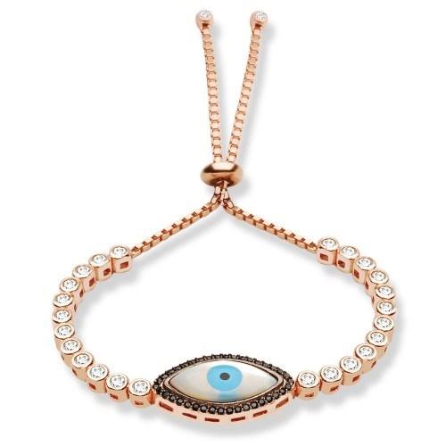 De Hari's Nazarlık Göz Parçalı Gümüş Bilezik