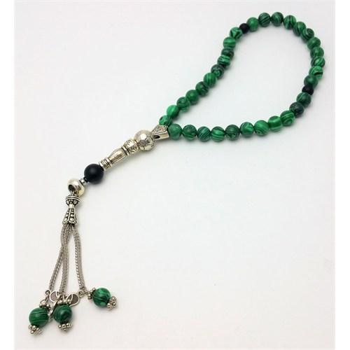 Cecilia Collection Yeşil Akik Doğal Taş Tesbih