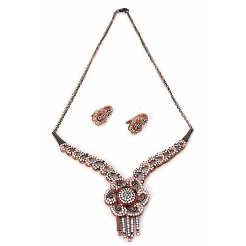Nusret Takı 925 Ayar Gümüş Antik Taşlı Set