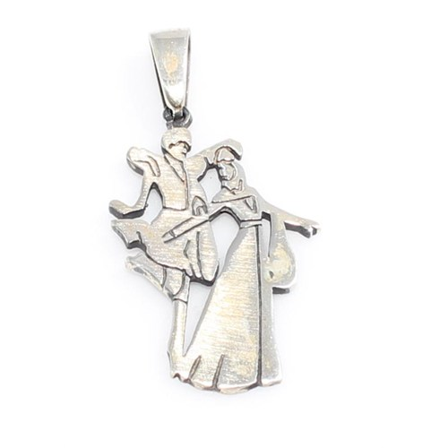 Nusret Takı 925 Ayar Gümüş Kafkas Dansçıları Kolye Ucu