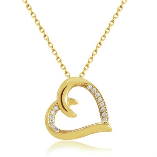 Goldstore 14 Ayar Altın Kalp Kolye Gp39874