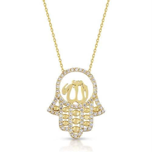 Goldstore 14 Ayar Altın Fatma Ana Eli Kolye Gp39895