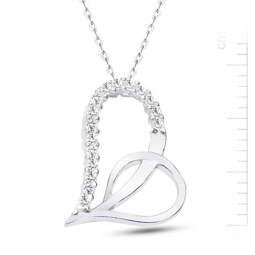 Bella Gloria Altın Kaplamalı Gümüş Kalp Kolye (GK00174)