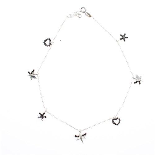 Nusret Takı 925 Ayar Gümüş Yıldız, Kelebek Kalp Halhal