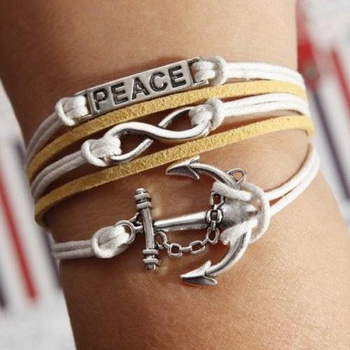 Betico Fashion Sarı Sonsuz Deniz Aşkı Bilekliği
