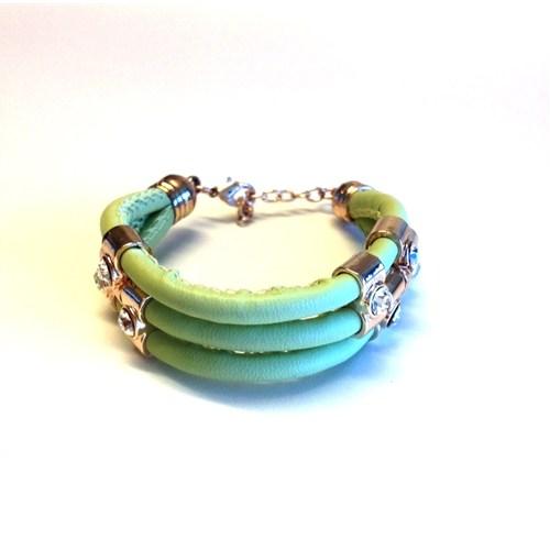 Betico Fashion Yeşil 3 Sıra Bileklik