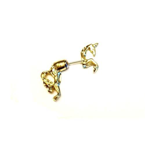 Betico Fashion Altın Unicorn Küpe