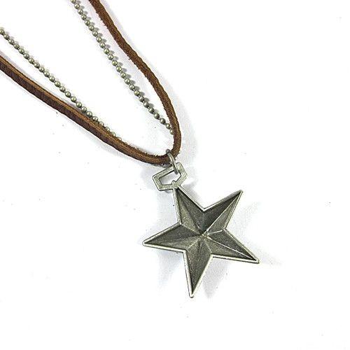 Betico Fashion Gümüş Yıldız Kolye