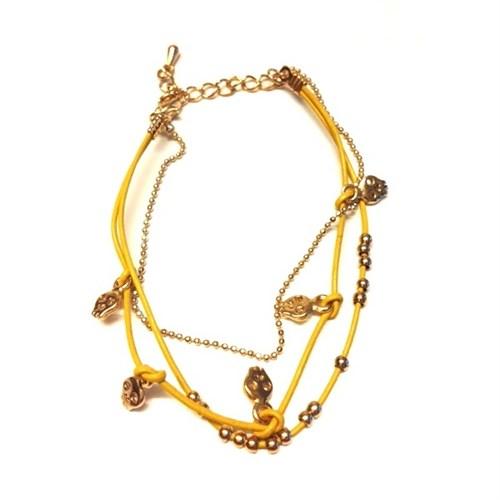 Betico Fashion Sarı Kurukafalı Bileklik