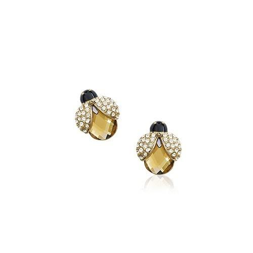 Betico Fashion Sarı Uğurböceği Küpe