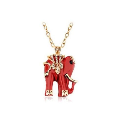 Betico Fashion Kırmızı Fil Kolye