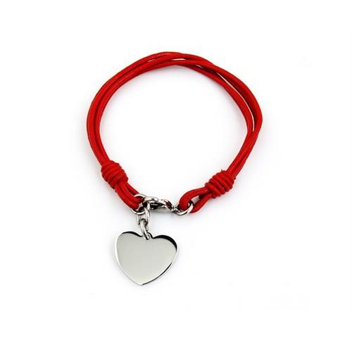 Betico Fashion Kırmızı Kalp Bileklik