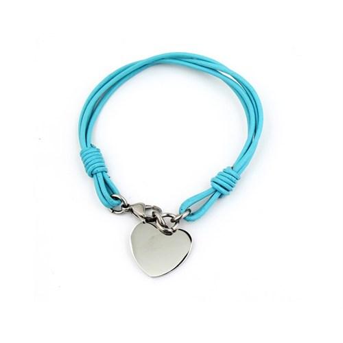 Betico Fashion Mavi Kalp Bileklik