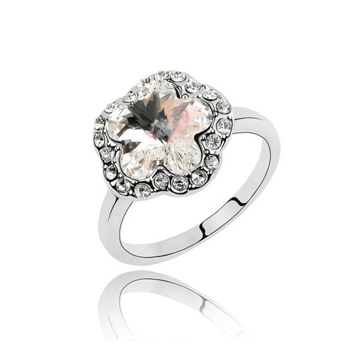 Betico Fashion Gümüş Çiçek Yüzük