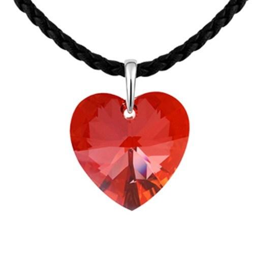 Betico Fashion Kırmızı Kalp Uzun Kolye