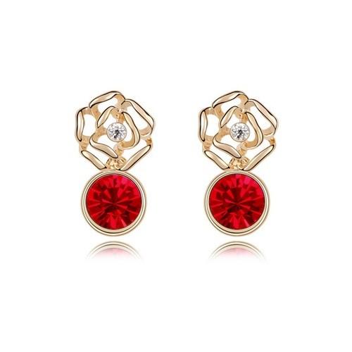 Betico Fashion Kırmızı Gül Küpe
