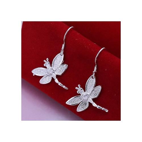 Betico Fashion Gümüş Uğurlu Yusufçuk Küpe