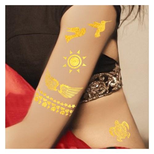 Artikel Metalik Tattoo Dövme