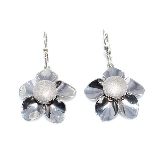 Nusret Takı 925 Ayar Gümüş Çiçek Küpe