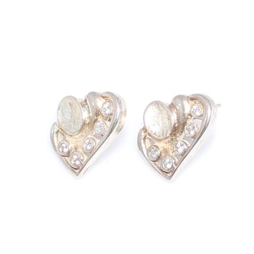 Nusret Takı 925 Ayar Gümüş Kalp Modeli Küpe