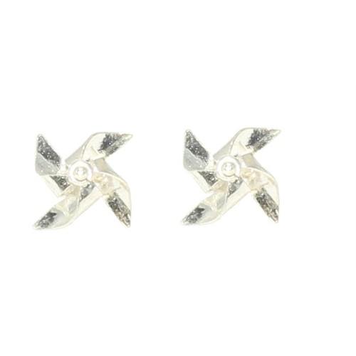 Nusret Takı 925 Ayar Gümüş Elişi Rüzgar Gülü Küpe