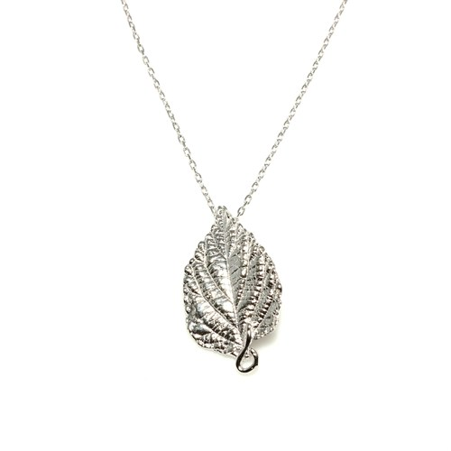 Nusret Takı 925 Ayar Gümüş Yaprak Kolye Beyaz