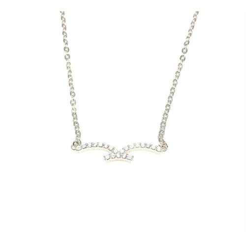 Nusret Takı 925 Ayar Gümüş Martı Kolyebeyaz-Beyaz Taş