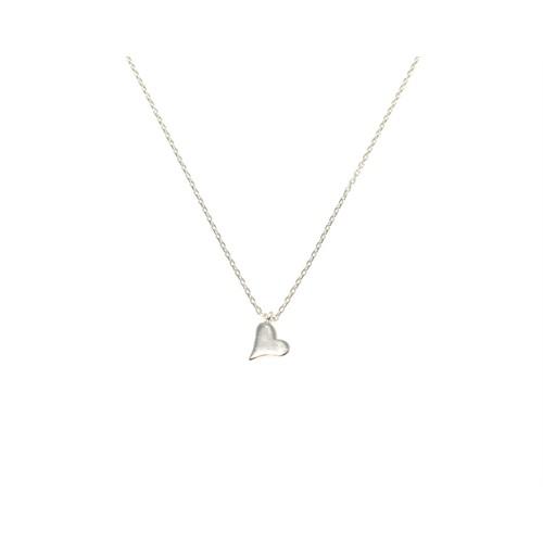 Nusret Takı 925 Ayar Gümüş Minik Kalp Kolye Beyaz