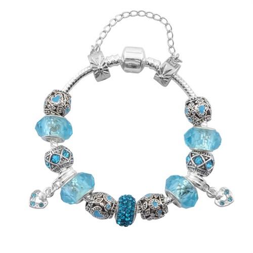 Modakedi Angemiel Mavi Kristal Charm Kadın Bileklik