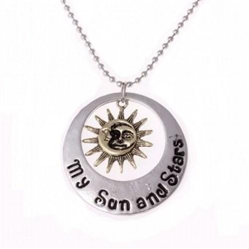 Modakedi My Life Sun Moon Star Erkek Kolye