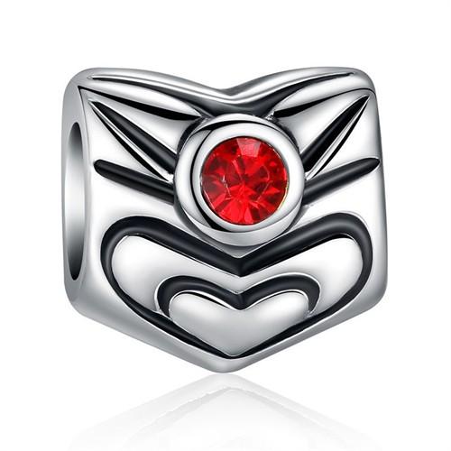 Modakedi Kalp Kırmızı Kristal Charm Kendi Tarzını Yarat