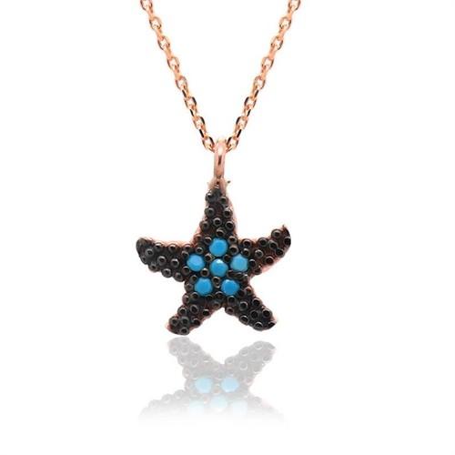 İndigo Takı Küçük Deniz Yıldızı Gümüş Kolye
