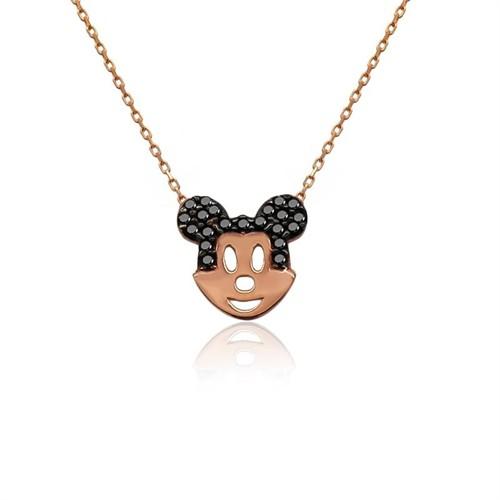 İndigo Takı Küçük Mickey Mouse Gümüş Kolye