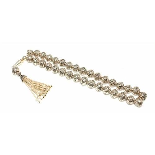 Nusret Takı 925 Ayar Gümüş Küre Kesim Tesbih Huni Modeli İmame