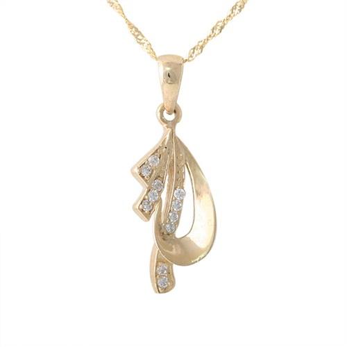 AltınSepeti Hediye Taşlı Altın Kolye AS153KL