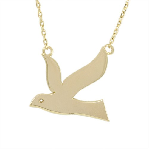 AltınSepeti Kuş Motifli Altın Kolye AS419KL