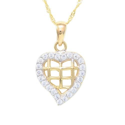 AltınSepeti Altın Kalp Kafes Kolye AS387KL