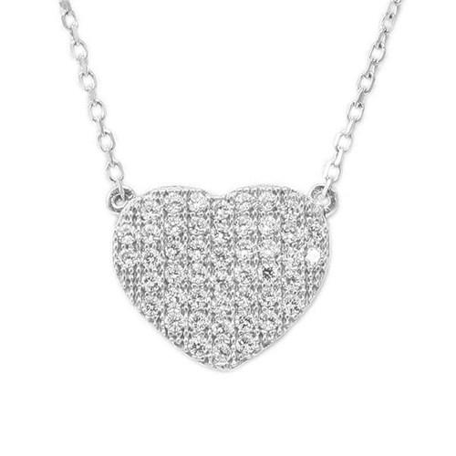 AltınSepeti Kalp Motifli Gümüş Kolye G146KL