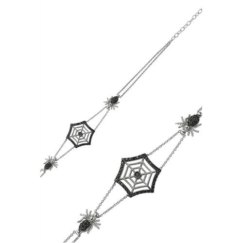 Olivin Accesories Gümüş Örümcek Ağı Bileklik 431782
